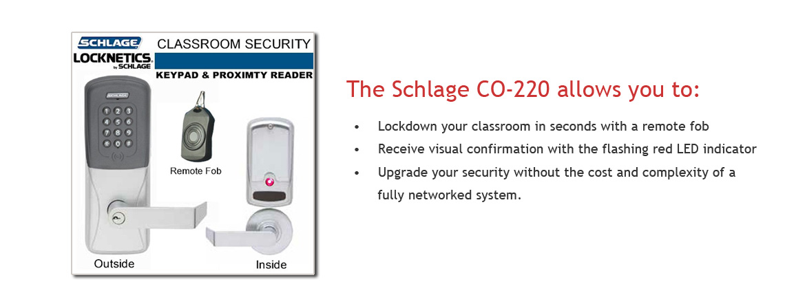 schlage classroom security