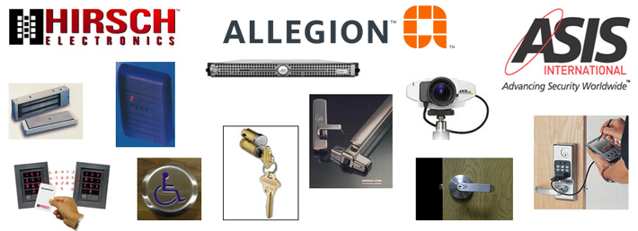 Security Solution Products image with Hirsch, Allegion and Asis brands